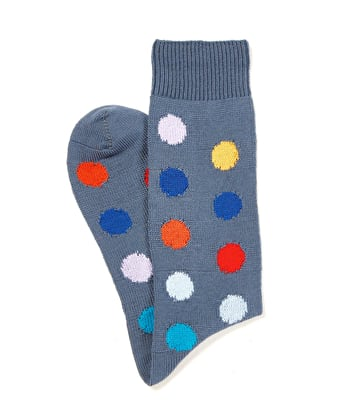 Spotty Cotton Socks - Gunmetal