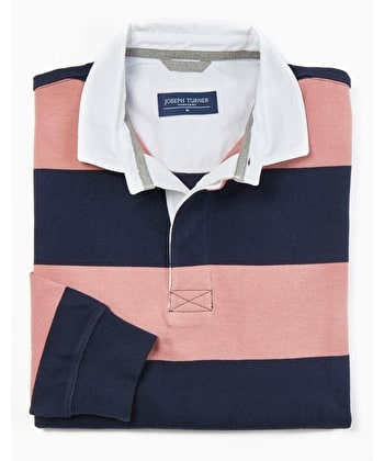 Rugby Shirt - Navy/Pink