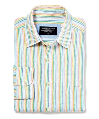 Linen Shirt - Long Sleeve - Multi Stripe