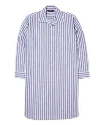 Nightshirt - Blue/Navy/Red (Brushed)