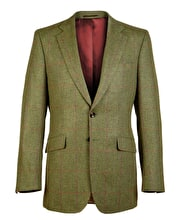 Dales Tweed Jacket - Magenta/Red Windowpane Check