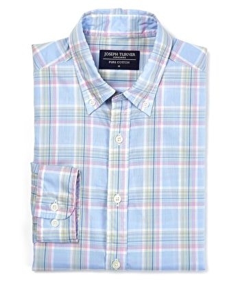 Madras Check - Blue/Pink Check