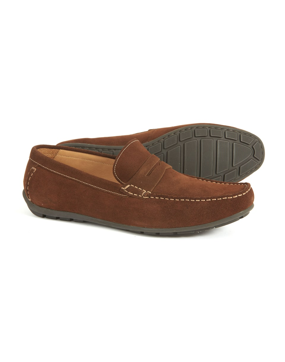 Brown leather 'Goodwood' loafers buy online authentic online cheap online really in China for sale VkTE3yxKB