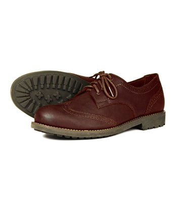 Country Brogue Shoe - Dark Brown