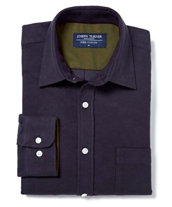Moleskin Shirt - Navy