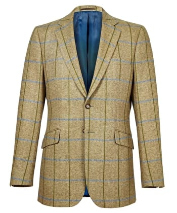 Dales Tweed Jacket - Green/Blue Check