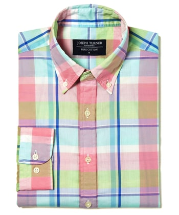 Madras Check - Pink/Green