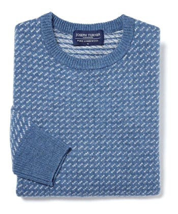 Nordic Crew Neck Jumper - Blue