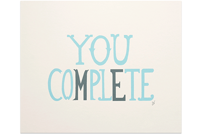 You Complete Me - Grey