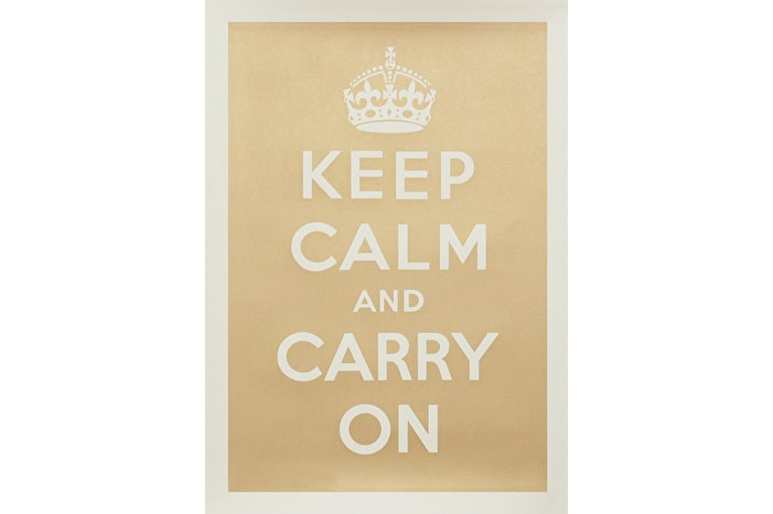 Keep Calm - Gold