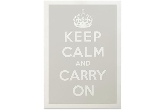 Keep Calm - Grey