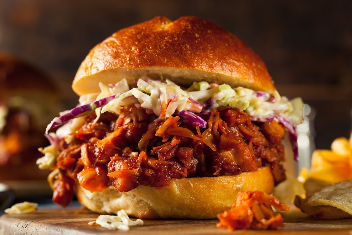 Ultimate BBQ Pulled Jackfruit Burgers & No-Mayo Slaw