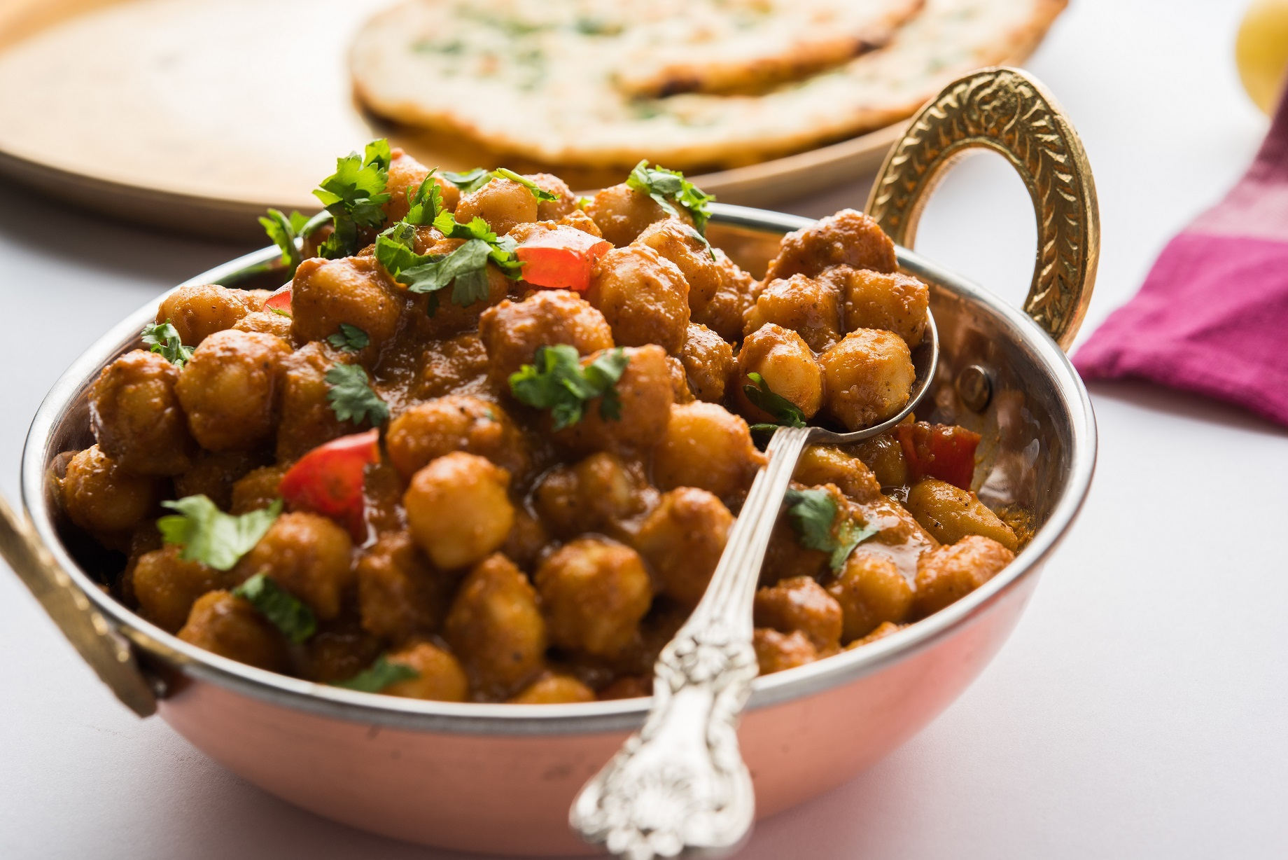 Chana Masala with Spinach