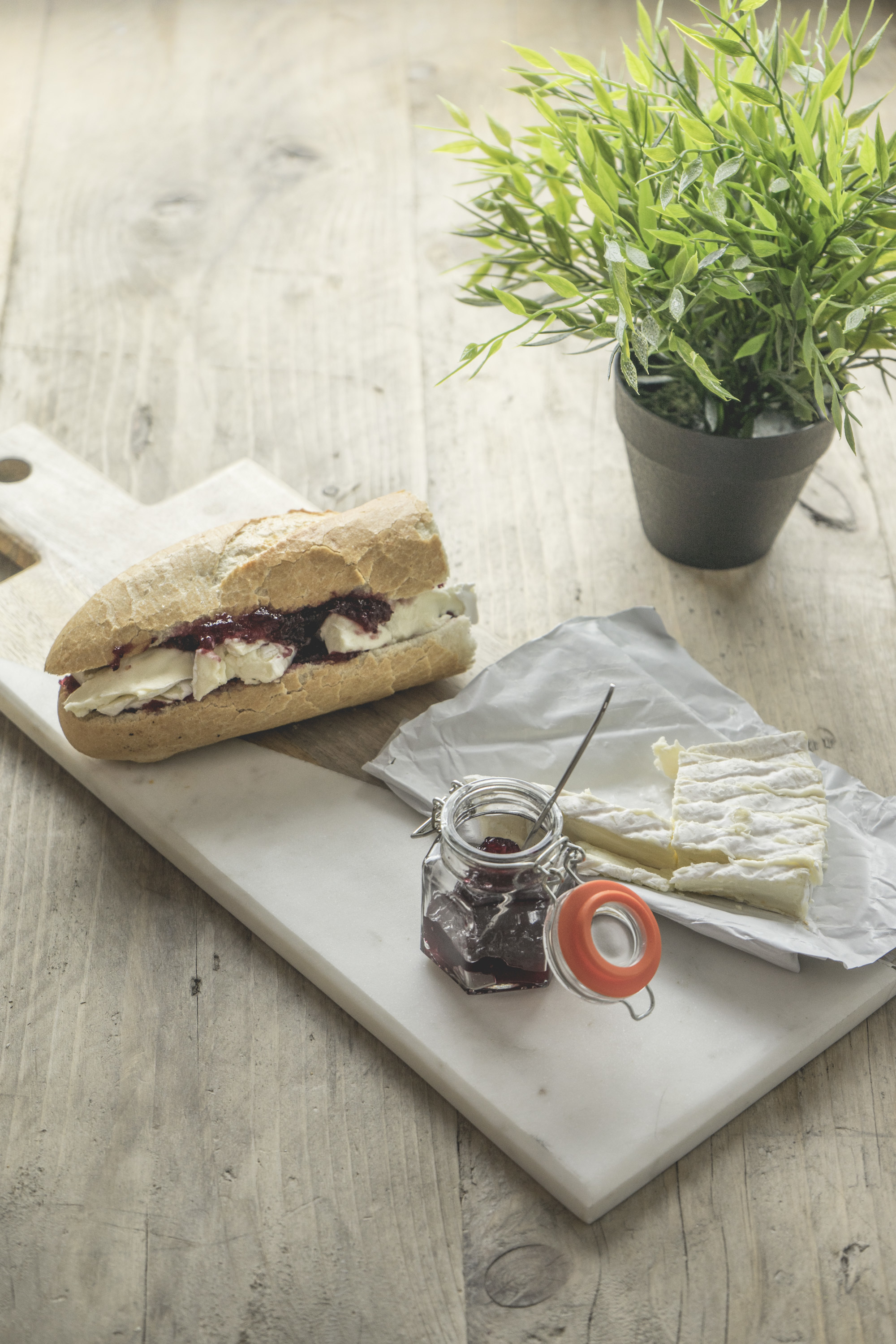 Brie and Cranberry Baguette