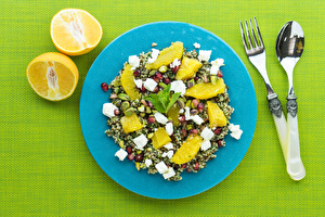 Feta, Quinoa and Mandarin Salad