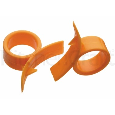 KitchenCraft Set of Two Orange Peelers