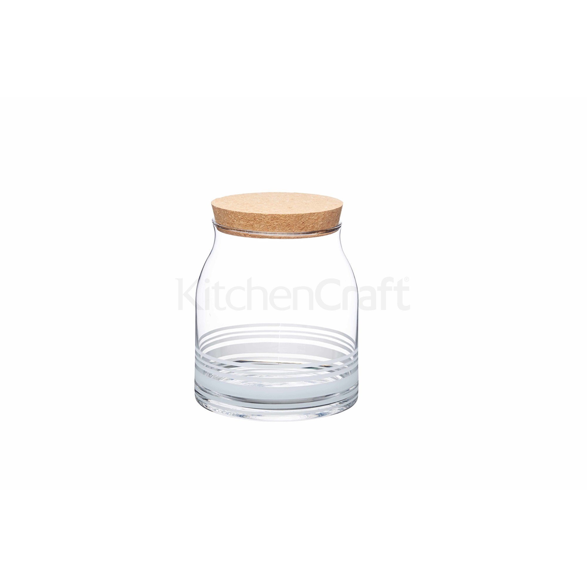 KitchenCraft Natural Elements Small Glass Food Storage Jar | Natural ...