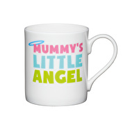 KitchenCraft Set of Four Bone China Little Angel Mini Mugs