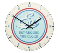 World of Flavours Stateside 30cm American Diner Clock