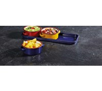 KitchenCraft World of Flavours Enamel Dip Set