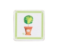 Kitchen Craft Herb Pot Cork Back Laminated Set of 4 Coasters