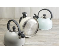 Living Nostalgia French Grey Traditional 1.4 Litre Whistling Kettle