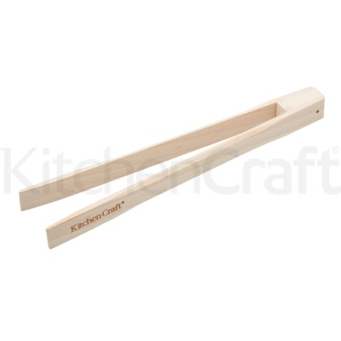 KitchenCraft Beechwood Toast Tongs