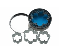 Kitchen Craft 6 Flower Shaped Cutters With Metal Storage Tin
