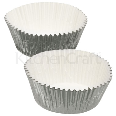 Sweetly Does It Pack of 24 Silver Foil Cake Cases