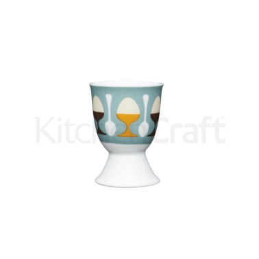 KitchenCraft Retro Eggs Porcelain Egg Cup