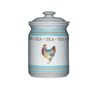 Hen House Ceramic Tea Storage Jar