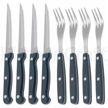 Kitchen Craft Deluxe 8 Piece Steak Knife and Fork Set