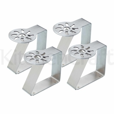 KitchenCraft Set of 4 Sunshine Stainless Steel Table Cloth Clips