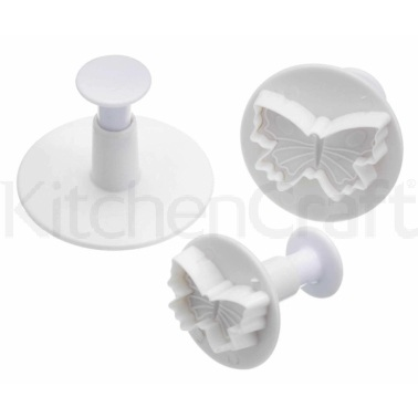 Sweetly Does It Set of 3 Butterfly Fondant Plunger Cutters