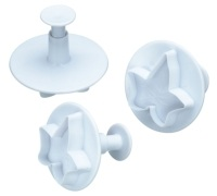 Sweetly Does It Set of 3 Ivy Fondant Plunger Cutters