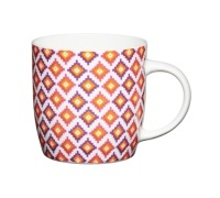 KitchenCraft Fine Bone China Moroccan Diamonds Barrel Mug