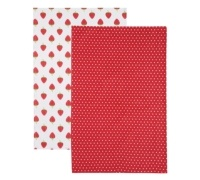 Kitchen Craft Home Strawberry Set of 2 Tea Towels