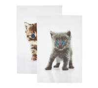 KitchenCraft Set of 2 Kitten Tea Towels