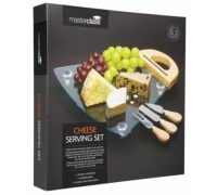 Master Class Glass Cheese Serving Set