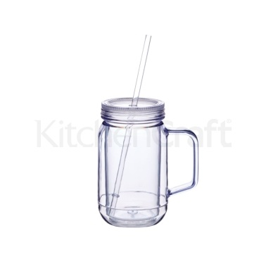 Bar Craft 400ml Double Walled Drinks Jar