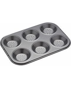 Photo of MasterClass Crusty Bake Non-Stick Six Hole Shallow Baking Pan