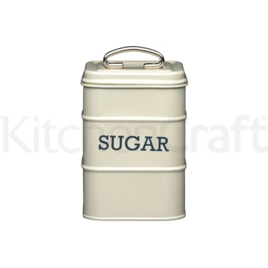 Living Nostalgia Antique Cream Sugar Tin