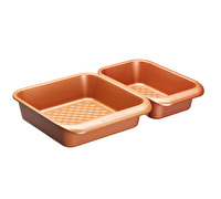 MasterClass Smart Ceramic 24 x 22cm Heavy-Duty Stackable Square Baking Tin