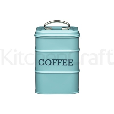 Living Nostalgia Vintage Blue Coffee Tin