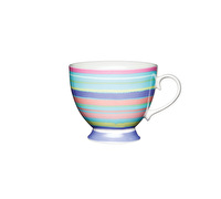 KitchenCraft Set of Four Bone China Bright Stripe Mugs