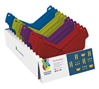 Colourworks Display of 24 Assorted Coloured Pan Strainers