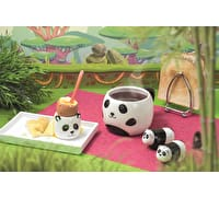 KitchenCraft Ceramic Panda-Shaped Novelty Salt and Pepper Shakers