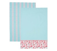 KitchenCraft Ditsy Set of 2 Tea Towels