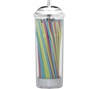 Bar Craft Bendy Drinking Straws and Dispenser