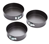 KitchenCraft Three Piece Non-Stick Spring Form Cake Tin Set